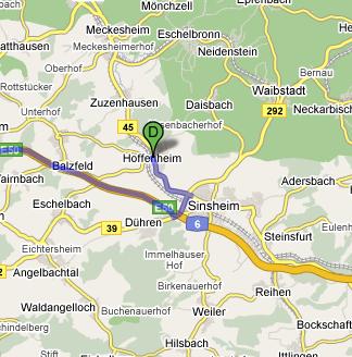 wo liegt hoffenheim